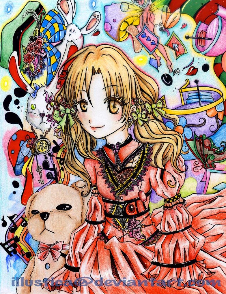 Mikan en Wonderland by illustica