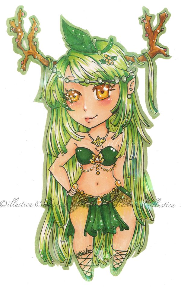 Birthstone: Emerald by illustica
