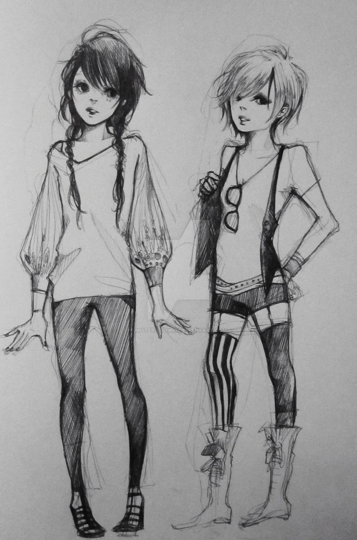 Some fashion drawing by mister-ludwig on DeviantArt