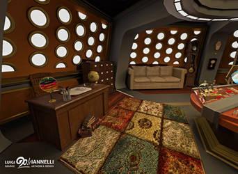 Custom TARDIS Console Room mark 3 - Office side by ginovanta
