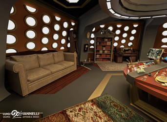 Custom TARDIS Console Room mark 3 - Couch side by ginovanta