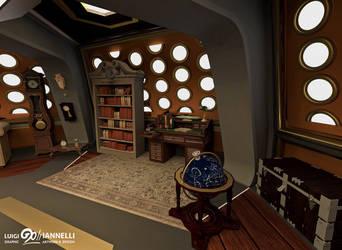 Custom TARDIS Console Room mark 3 - Library side by ginovanta