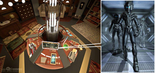Custom TARDIS Console Room mark 3 - Console detail by ginovanta