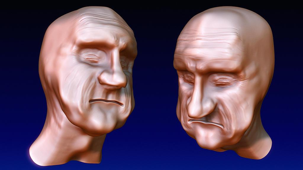 Man's Head -- Sketch by vmulligan