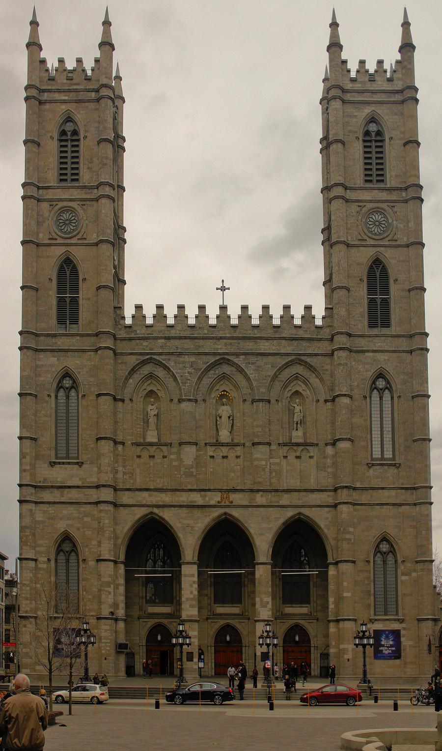Notre dame basilica montreal by vmulligan on deviantart for Exterior notre dame