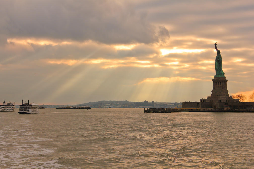 Leaving Liberty Island