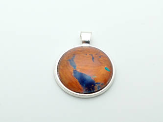 Acrylic Pour Pendant - #020 Geography