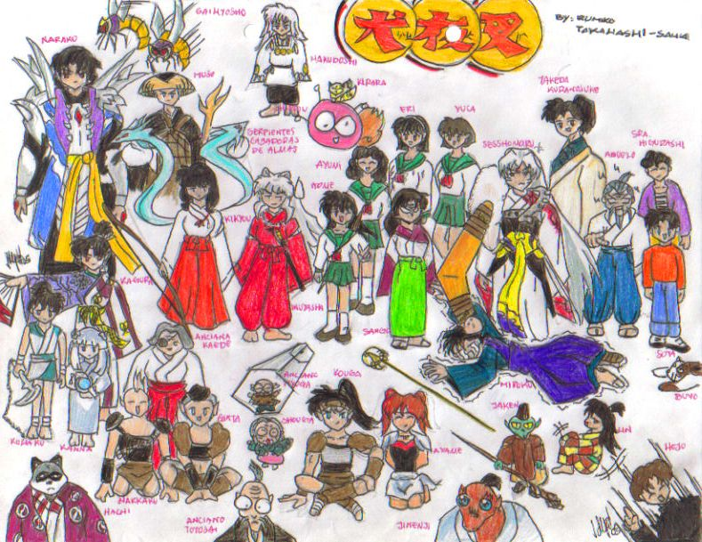 Inuyasha's cast by Penguins-diary on deviantART