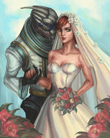 femshepxgarruswedding by SchwarzesGift411