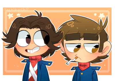 Eddsworld - Eyebrow lord and Chickenwing hair by SachikoChii
