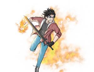 My friend if he was a manga character