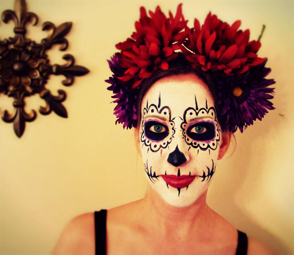 Best Image Of How To Apply Makeup Day Of The Dead All Can Download
