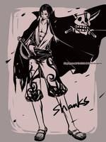 BLACK AND WHITE - OP1 -SHANKS by kingryuuzaki