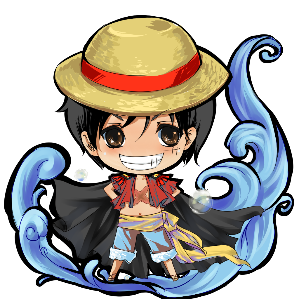 OP CHIBI SERIES 01 LUFFY By Kingryuuzaki On DeviantArt One Piece Luffy New World Chibi