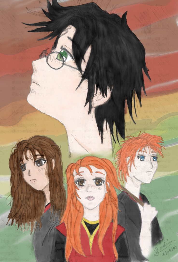 Harry Potter 7 color by ladysugarquill