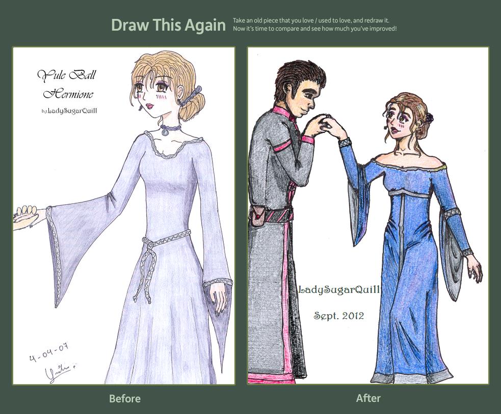 Draw This Again: Yule Ball Hermione by ladysugarquill