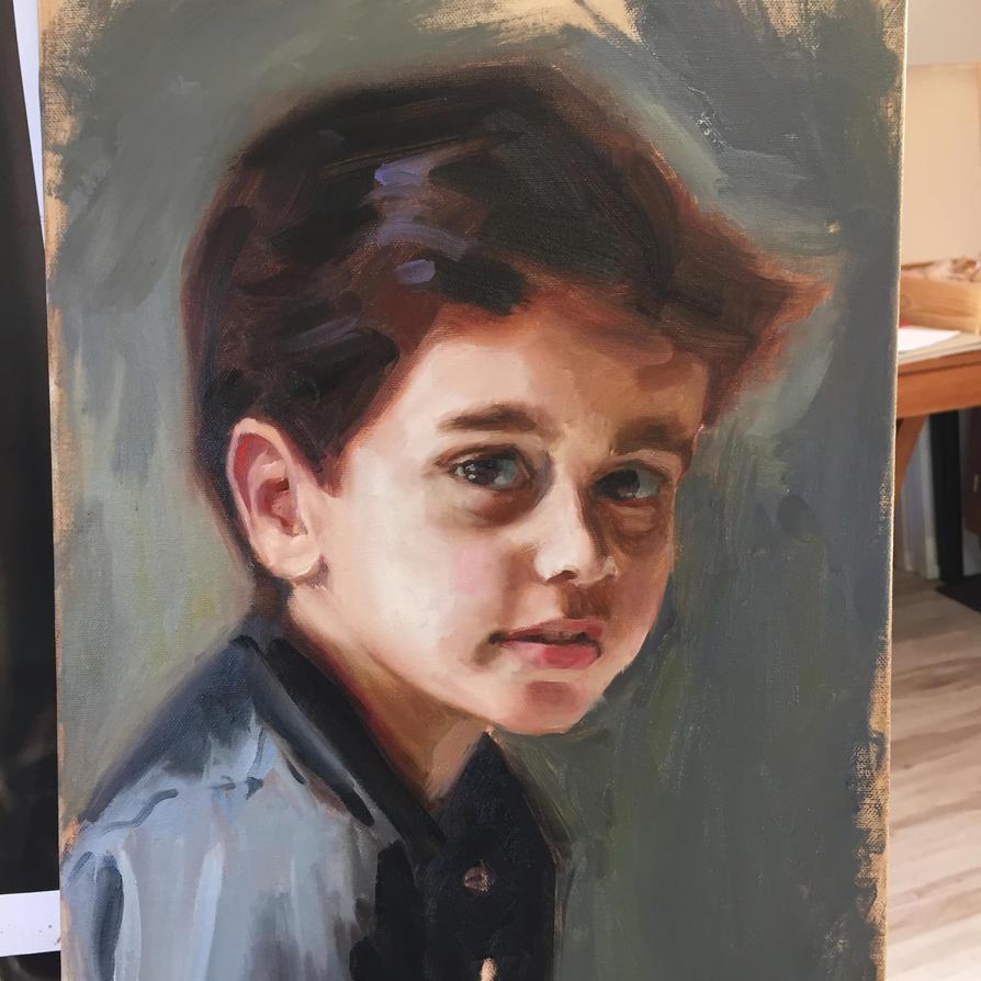 Portrait of Omar Ajinah by m-ajinah