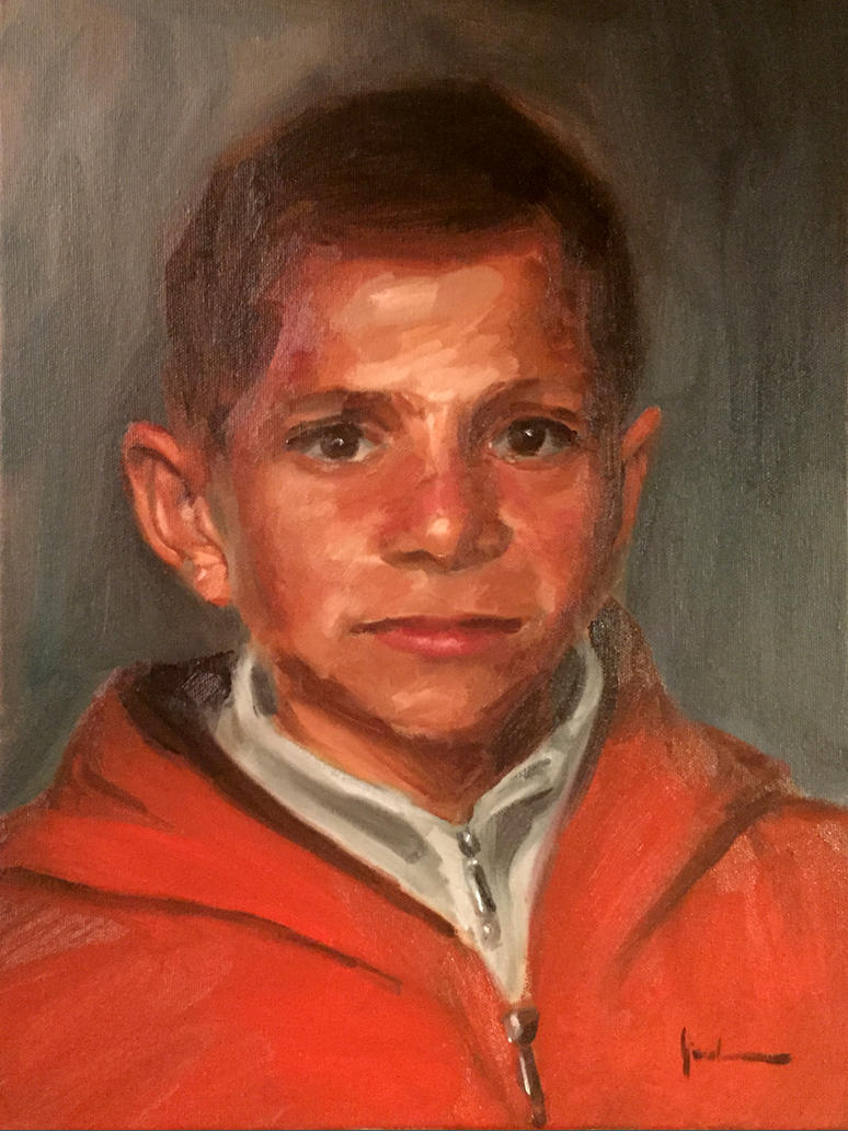 Portrait of a Palestinian Child by m-ajinah