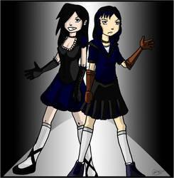 Morwen and Chiyo by JTtheNinja