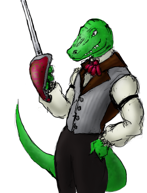 Gentleman Raptor by JTtheNinja
