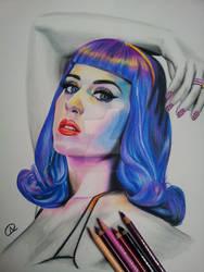 Katy Perry  blue wig by akshay-nair