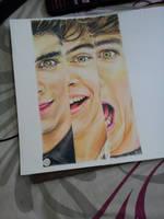One Direction (zayn ,  harry n louis) by akshay-nair