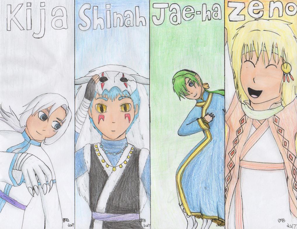 yona of the dawn four dragon warriors bookmarks by PrinccesOfTheNight