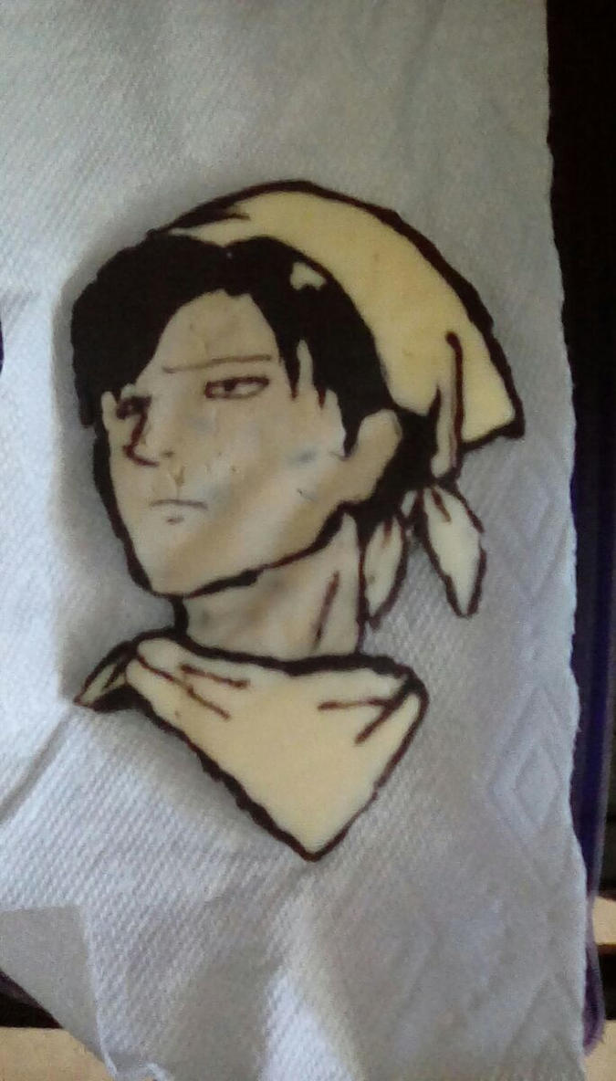 Attack On Titan Levi's face made out of chocolate by PrinccesOfTheNight