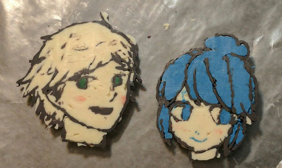 Miraculous ladybug Marinette and Adrien chocolate by PrinccesOfTheNight
