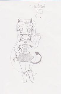 ChibiSimi Sketch by FanMaidHavenConcepts