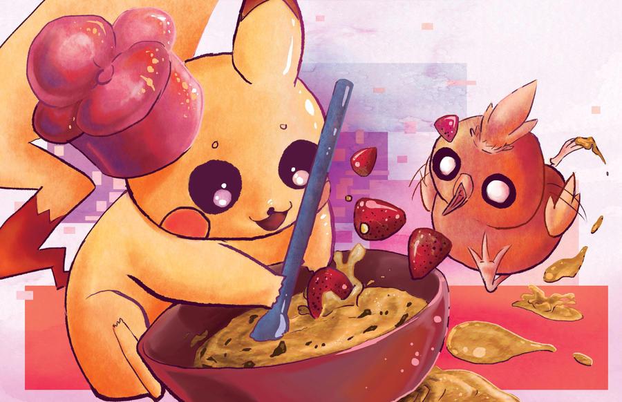 Pikachu's Bakery! by zingilicious