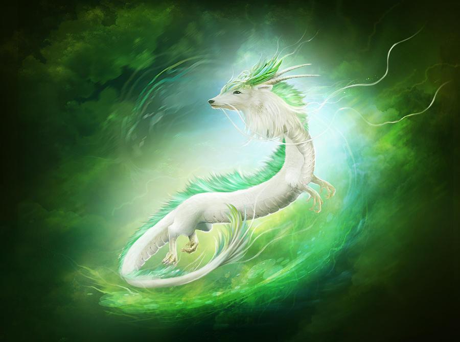 White dragon by ElenaDudina