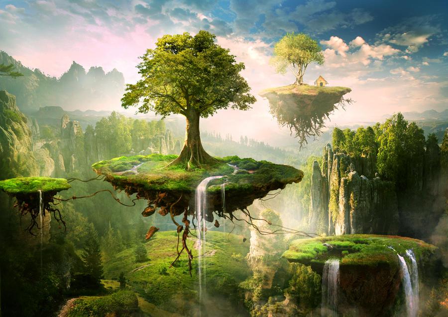 Floating islands by ElenaDudina