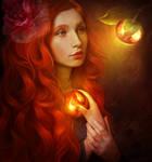 Lady of the apples by ElenaDudina