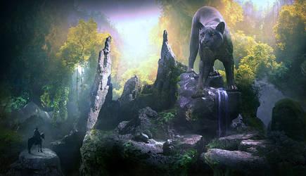 Stone lioness by ElenaDudina