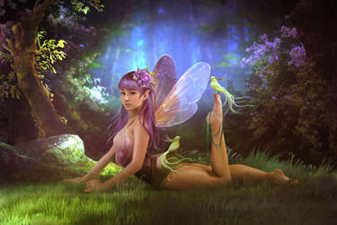 Purple fairy by ElenaDudina