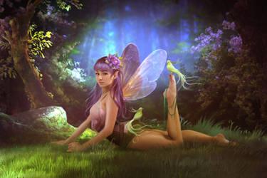 Purple fairy by ElenaDudina