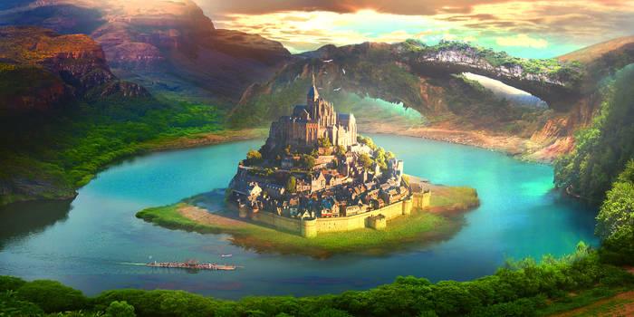Island castle