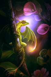 Flower dragon by ElenaDudina