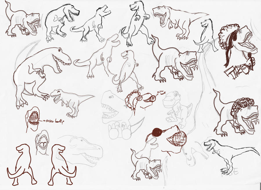 Early t rex family karaoke sketches 2 by fablousy cratz on for T rex family