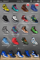 Iphone sneaker theme homescreen 1 printscreen by SLOFAR
