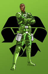 Green Leader commish 8 of 12 by Thuddleston