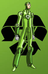 Green Techie Commish 10 of 12 by Thuddleston