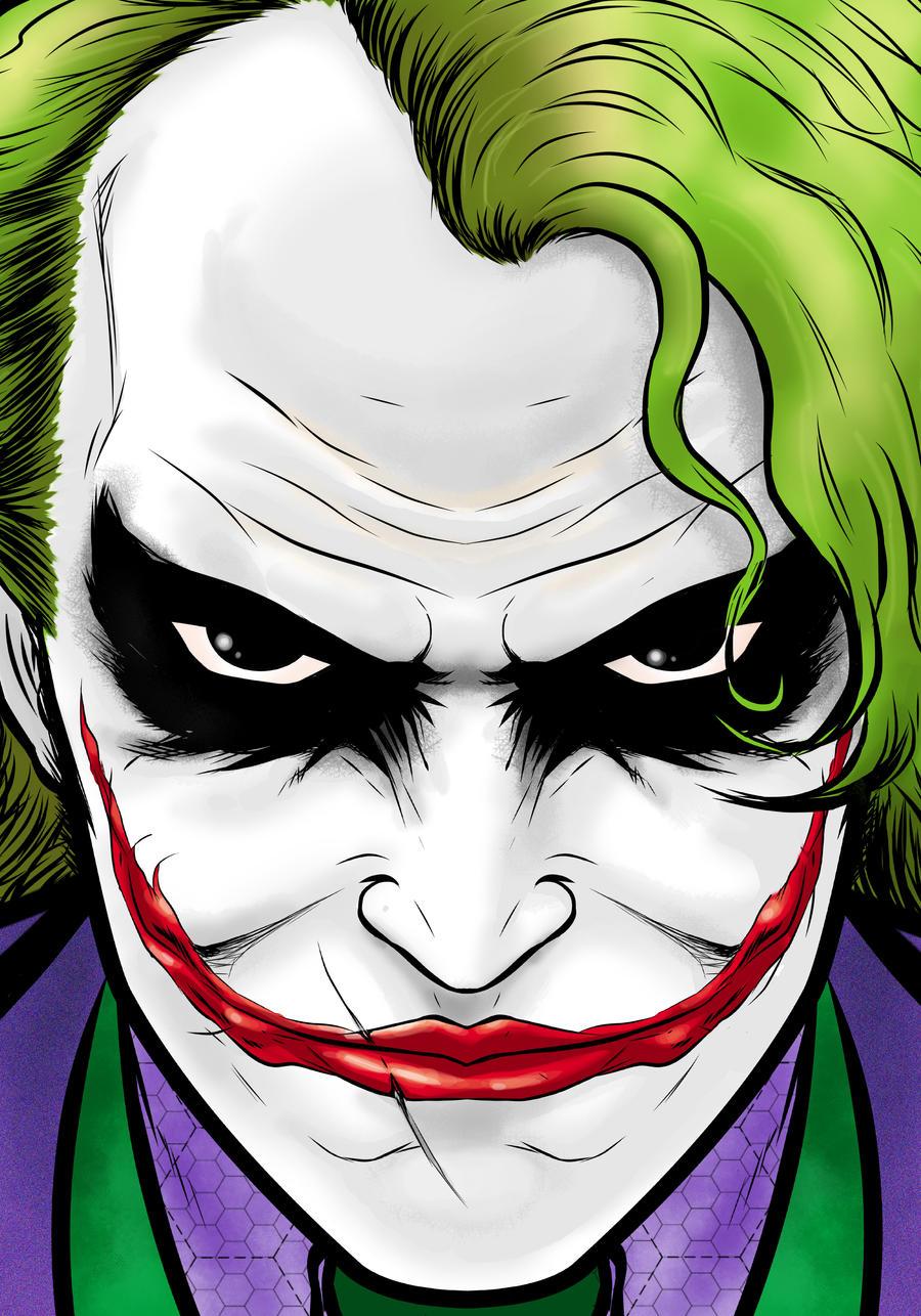 Joker Movie Portrait Series by Thuddleston