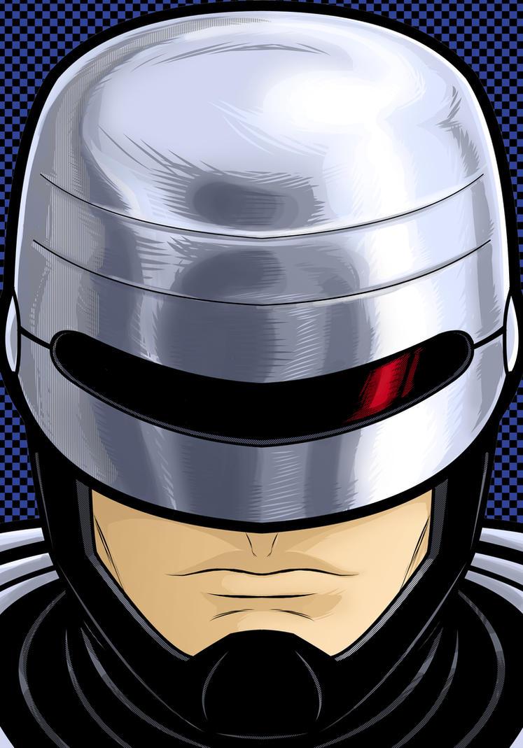 RoboCop Portrait Commission by Thuddleston