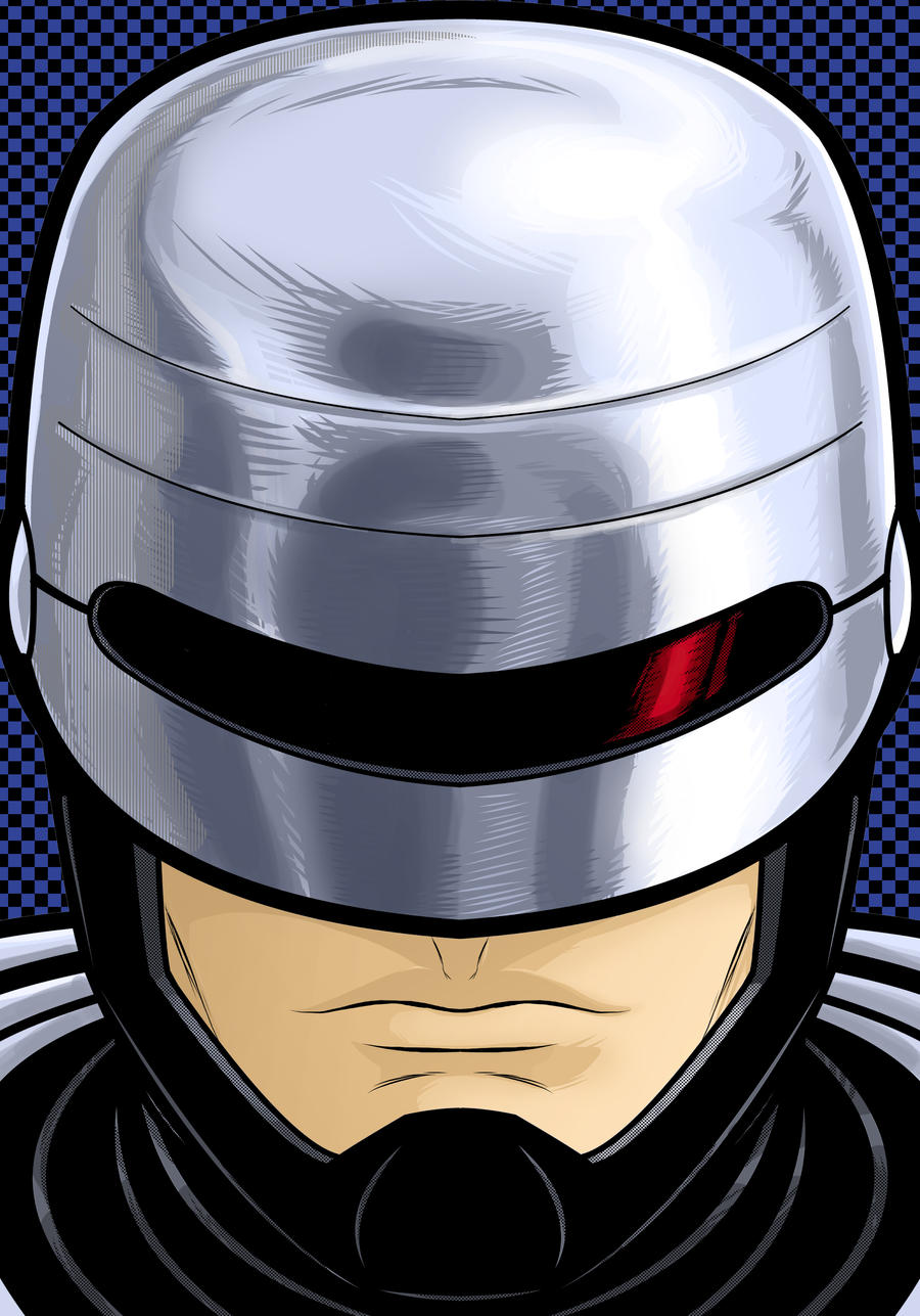 RoboCop Portrait Commission by Thuddleston
