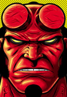 Hellboy Portrait by Thuddleston