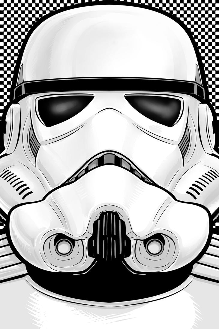 Storm Trooper Portrait Series by Thuddleston