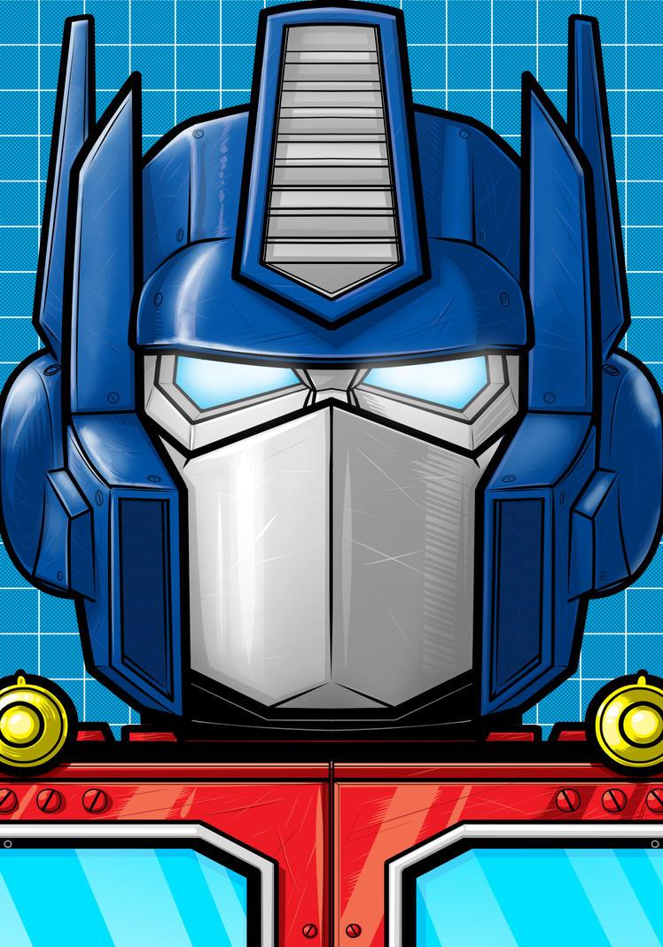 Optimus Prime Portrait Series by Thuddleston