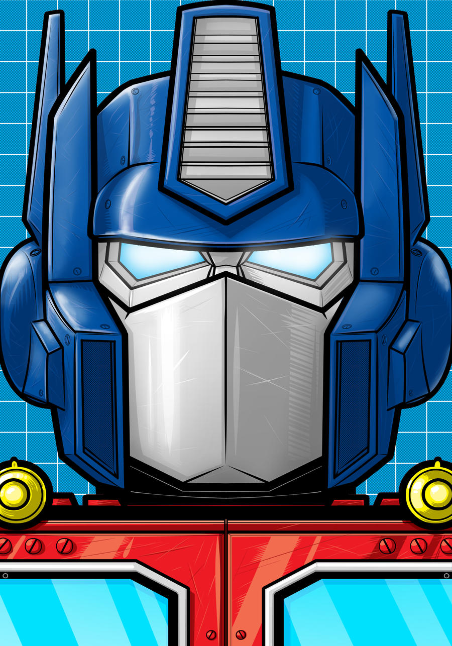 Optimus Prime Portrait Series by Thuddleston